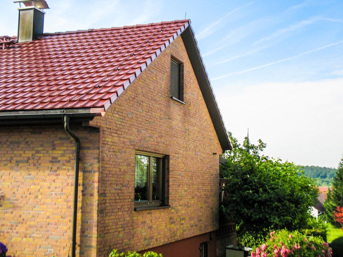 Steildach von unseren Dachdeckern neu eingedeckt